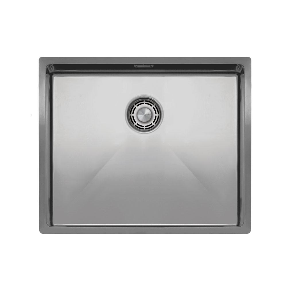 不锈钢 厨房水槽 - Nivito CU-500-B 拉絲鋼 過濾器∕廢物箱顏色