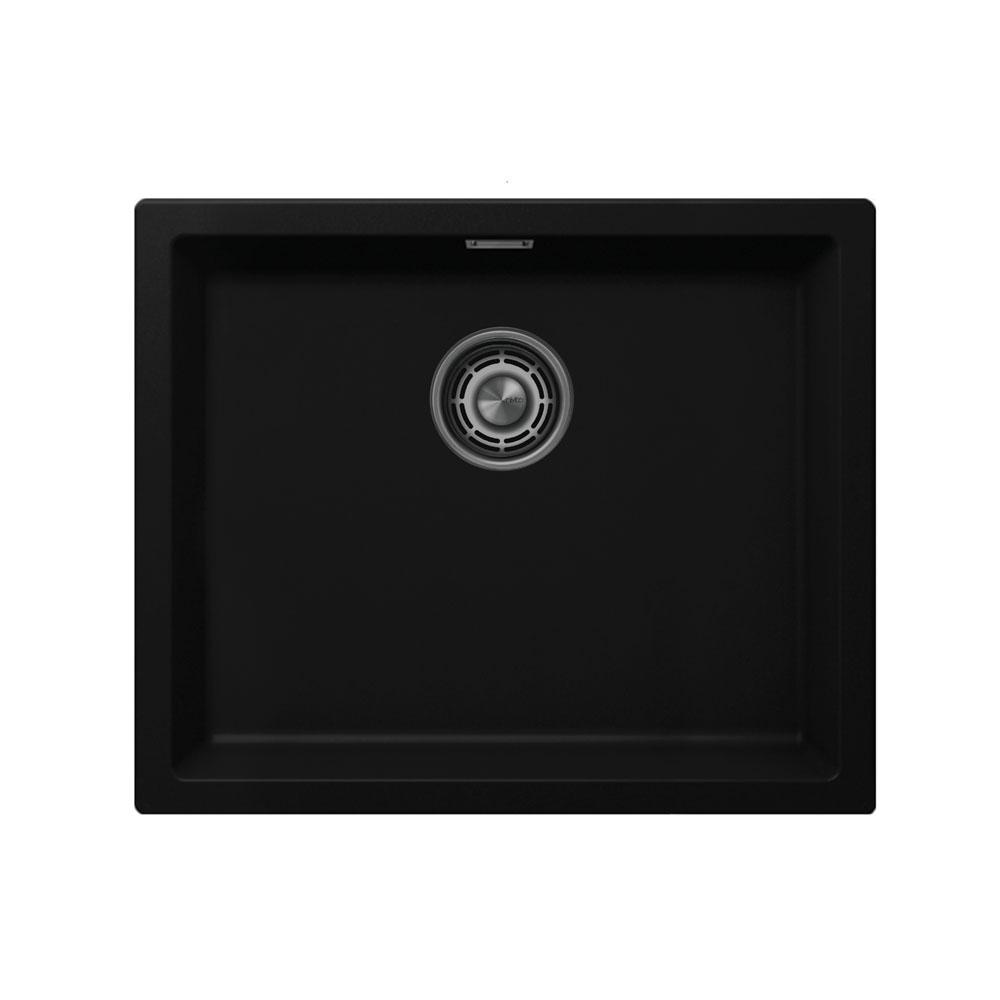 黑色 厨房大盆 - Nivito CU-500-GR-BL 拉絲鋼 過濾器∕廢物箱顏色