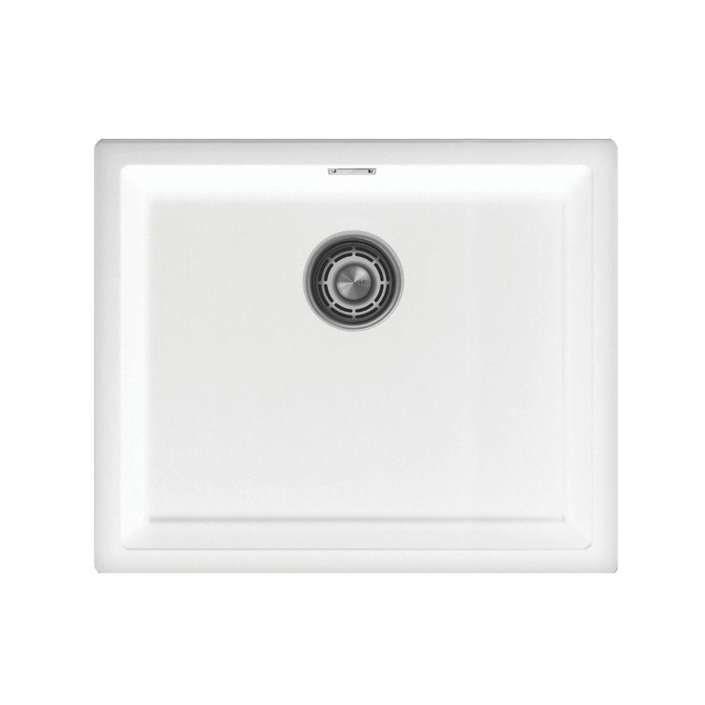 白色 厨房大盆 - Nivito CU-500-GR-WH 拉絲鋼 過濾器∕廢物箱顏色