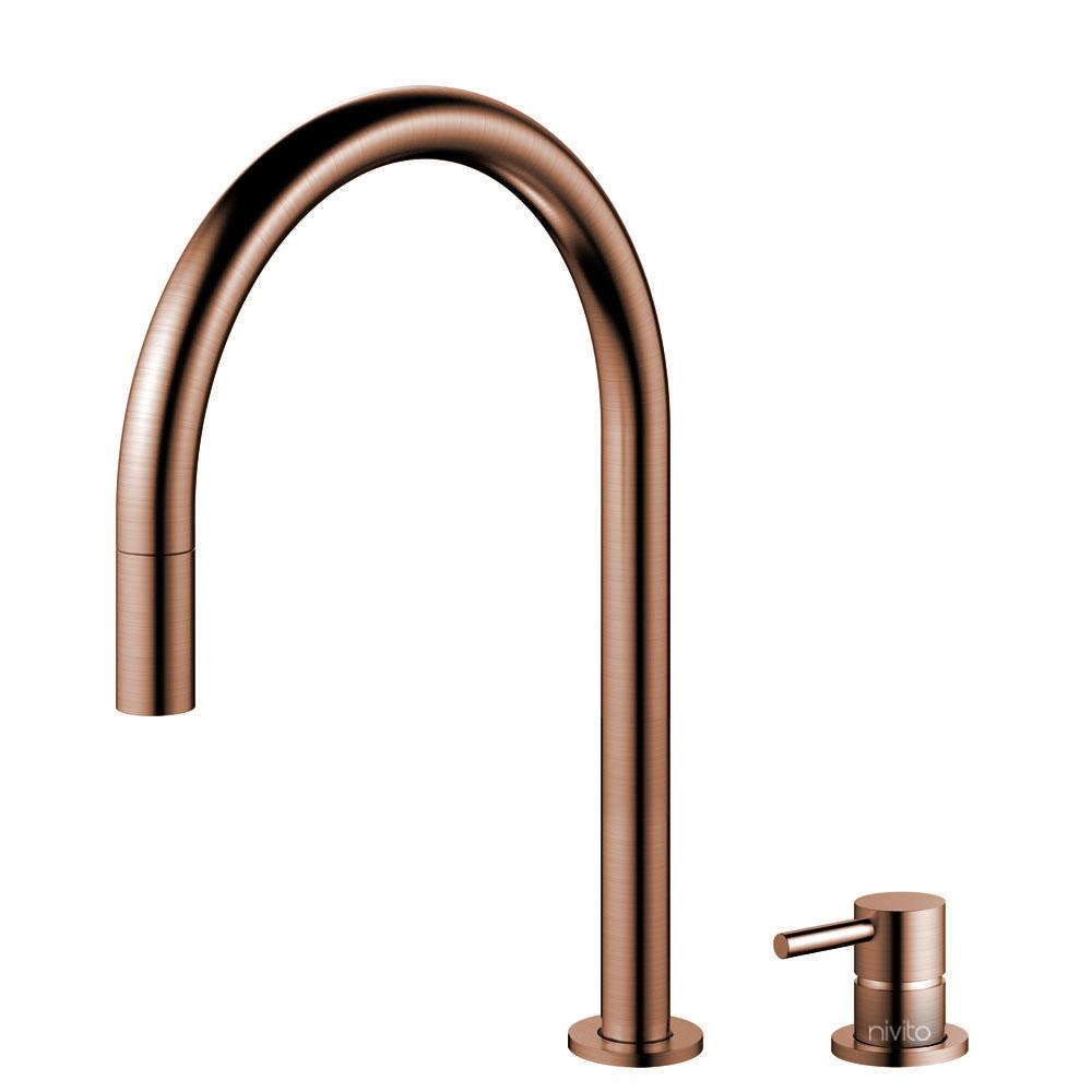 铜 厨房龙头 可拉出式软管 / 可分离式主体/管道 - Nivito RH-150-VI