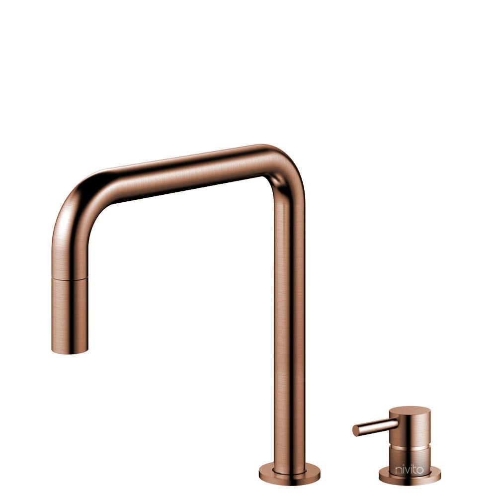 铜 厨房龙头 可拉出式软管 / 可分离式主体/管道 - Nivito RH-350-VI