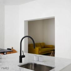 黑色 厨房水龙头 - Nivito 4-RH-120