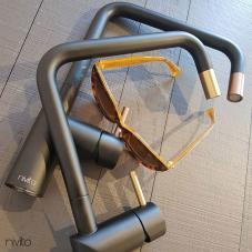 铜 厨房水龙头 黑色/铜质 - Nivito 1-RH-350-BISTRO