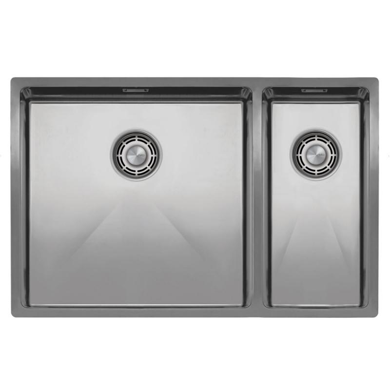 不锈钢 厨房水槽 - Nivito CU-500-180-B 拉絲鋼 過濾器∕廢物箱顏色