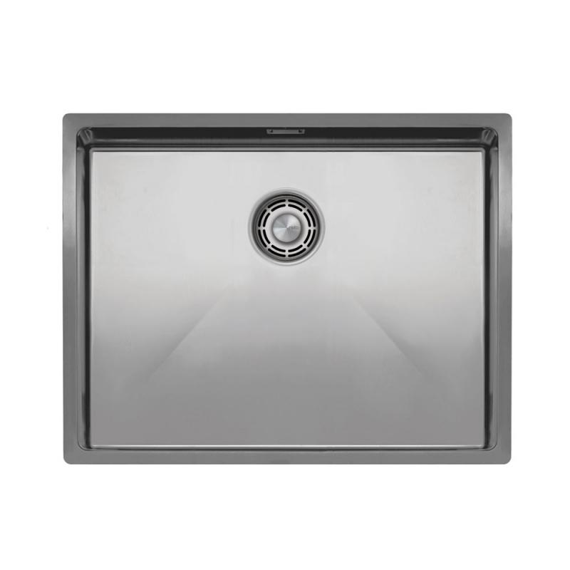 不锈钢 厨房水槽 - Nivito CU-550-B 拉絲鋼 過濾器∕廢物箱顏色