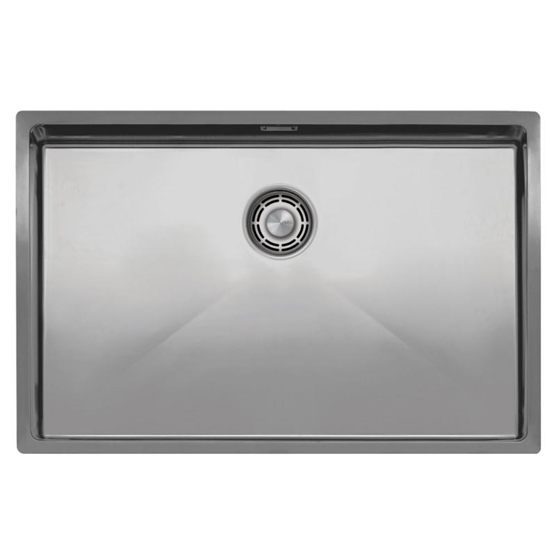 不锈钢 厨房水槽 - Nivito CU-700-B 拉絲鋼 過濾器∕廢物箱顏色