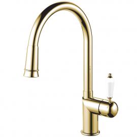 黄金/黄铜 厨房水龙头 可拉出式软管 - Nivito CL-260