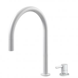 白色 厨房水龙头 可拉出式软管 / 可分离式主体/管道 - Nivito RH-130-VI
