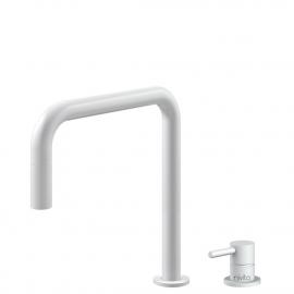 白色 厨房水龙头 可拉出式软管 / 可分离式主体/管道 - Nivito RH-330-VI