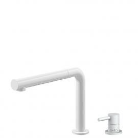 白色 厨房水龙头 可拉出式软管 / 可分离式主体/管道 - Nivito RH-630-VI