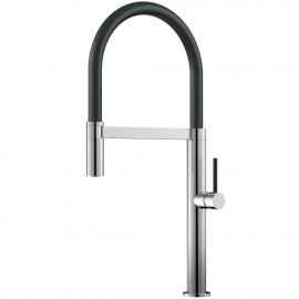 厨房龙头 可拉出式软管 / 抛光/黑色 - Nivito SH-210
