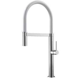 厨房龙头 可拉出式软管 / 抛光/白色 - Nivito SH-310